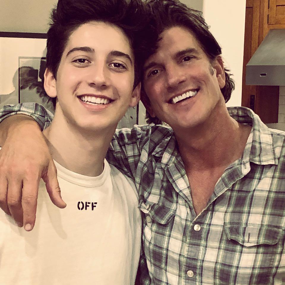 Jeffrey Brezovar and his son Milo Manheim
