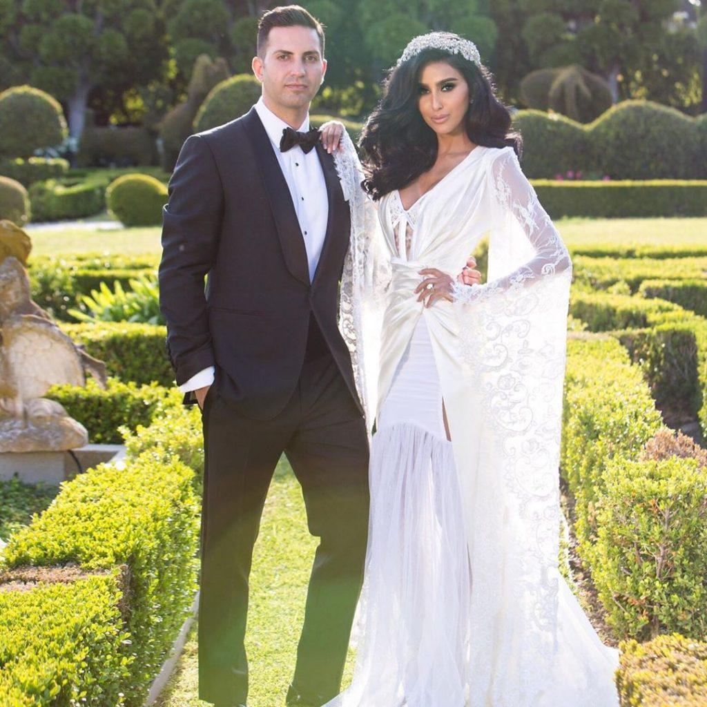Lilly Ghalichi husband Dara Mir wedding photo