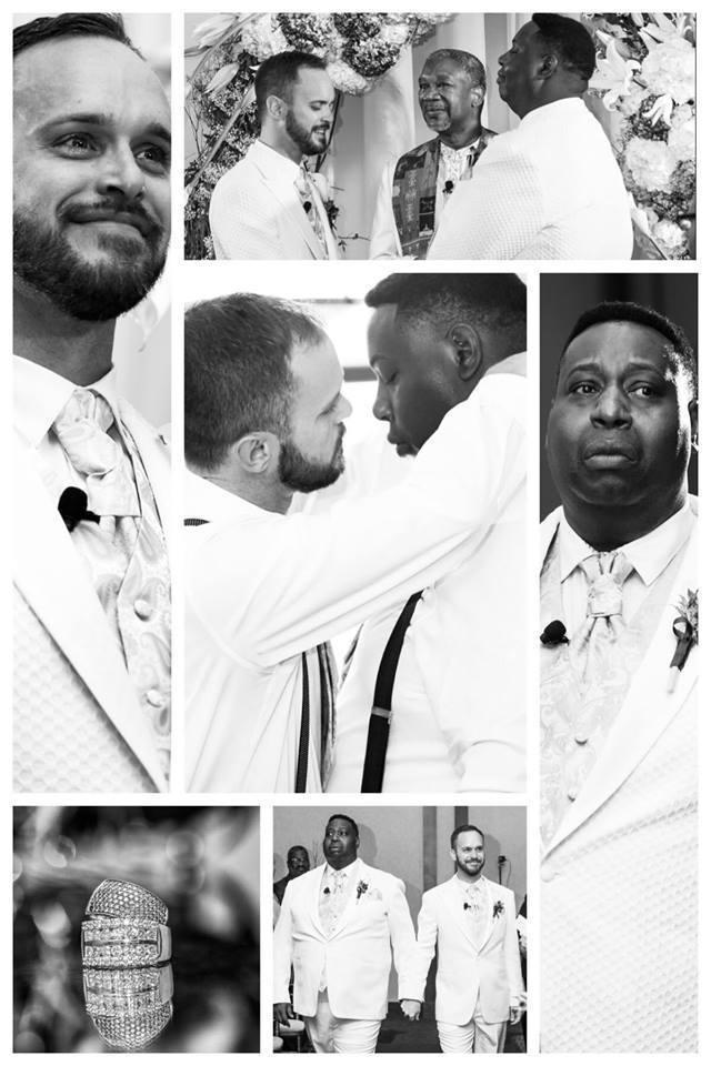 Christopher Hamblin wedding with partner