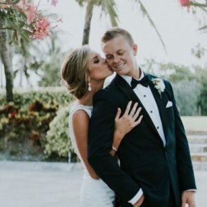 Colleen Parkey with her husband Cody Parkey
